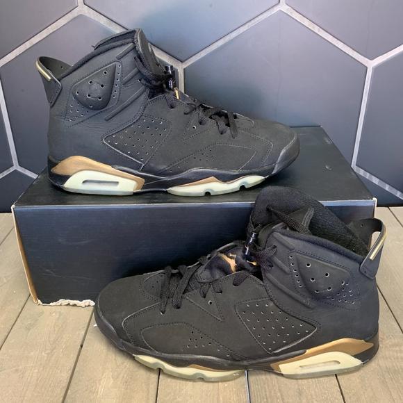 Air Jordan 6 Dmp Gold Black Shoe Size
